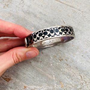 ♥️ Coach ♥️ Silver & Black Bracelet
